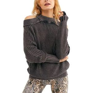 Free People Half Moon Bay Pullover Sweater XS